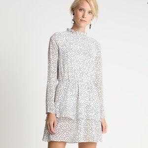 NWT Missguided High Neck Polka Dot Mini Dress